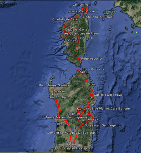 Karte Korsika-Sardinien