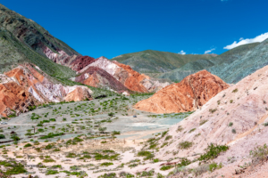 farbige Felsen von Purmamarca